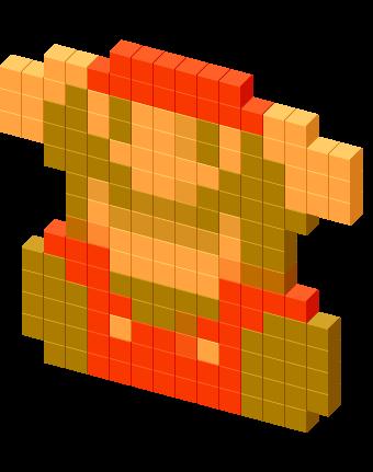 8-Bit Dead Mario Game Over