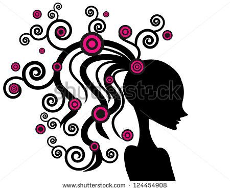 Abstract Vector Girl Hair