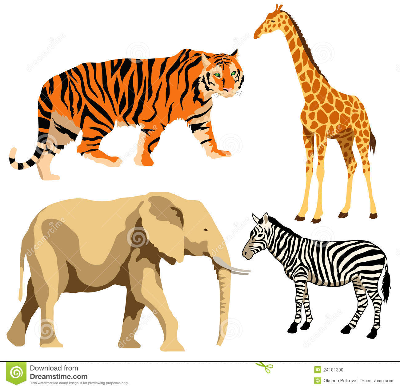 African Wild Animals Clip Art