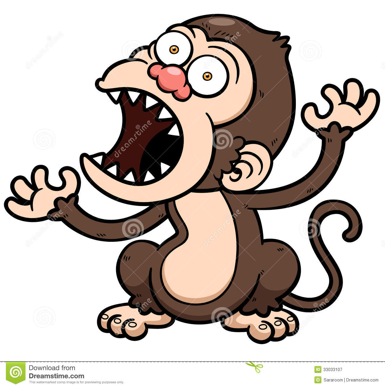 Angry Monkey Cartoon