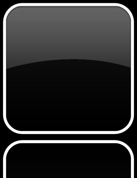 Apple Black App Icon Template