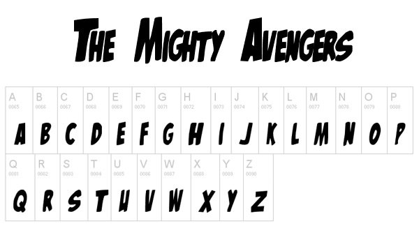 Avengers Movie Font