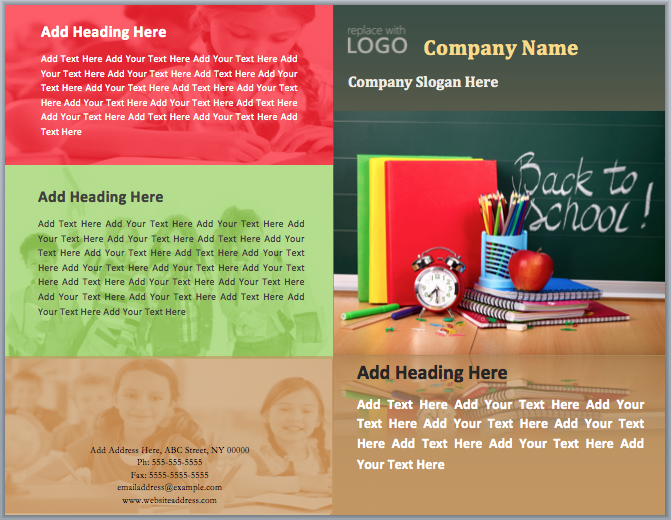 School Brochure Templates Free Datariouruguay
