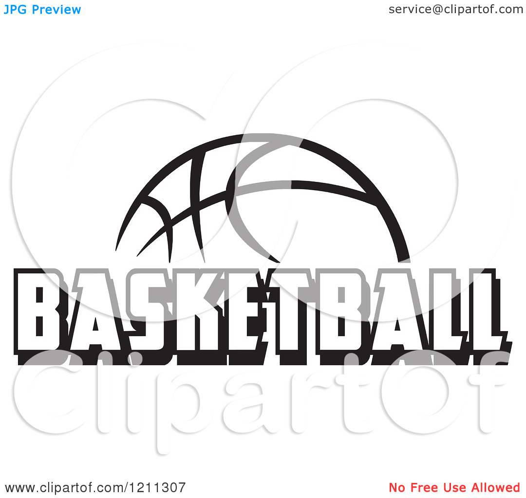 Basketball Clip Art Black and White