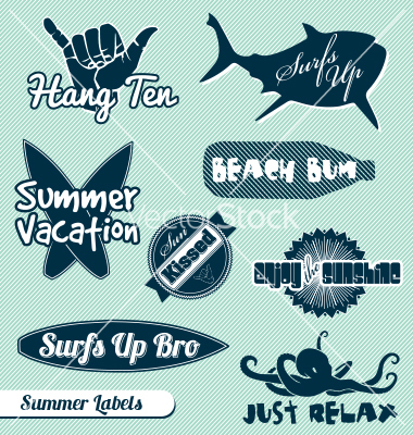 Beach Retro Surf Vector Art