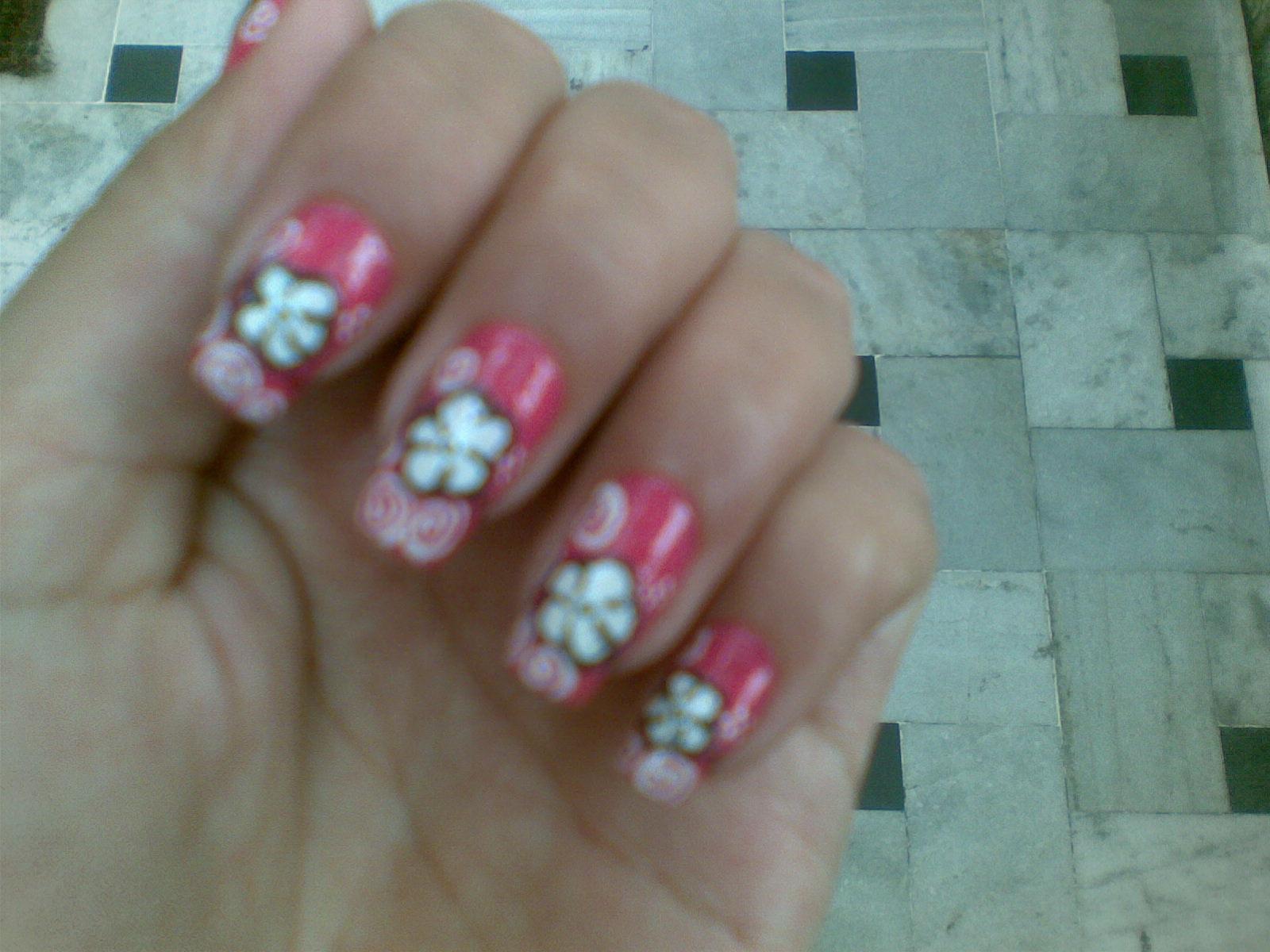 Beautiful Flower Nail Designs