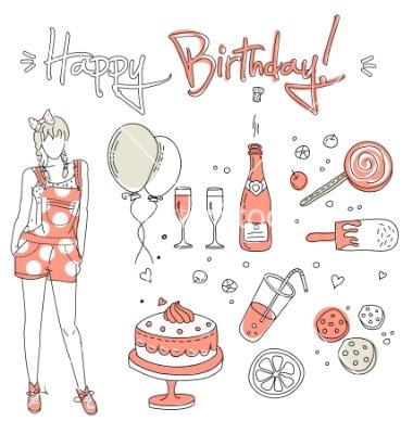 Birthday Girl Vector