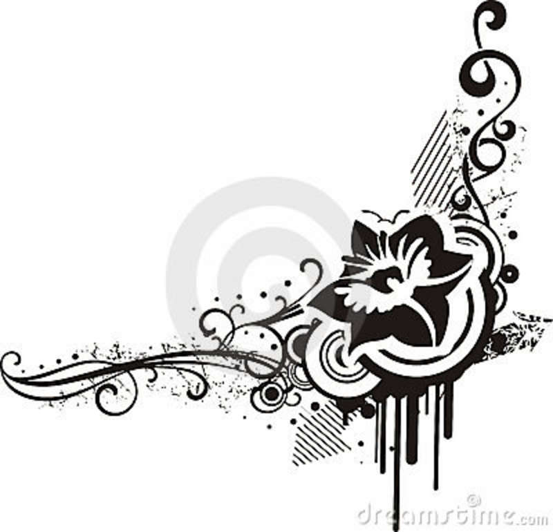 14 black and white floral designs images black and white