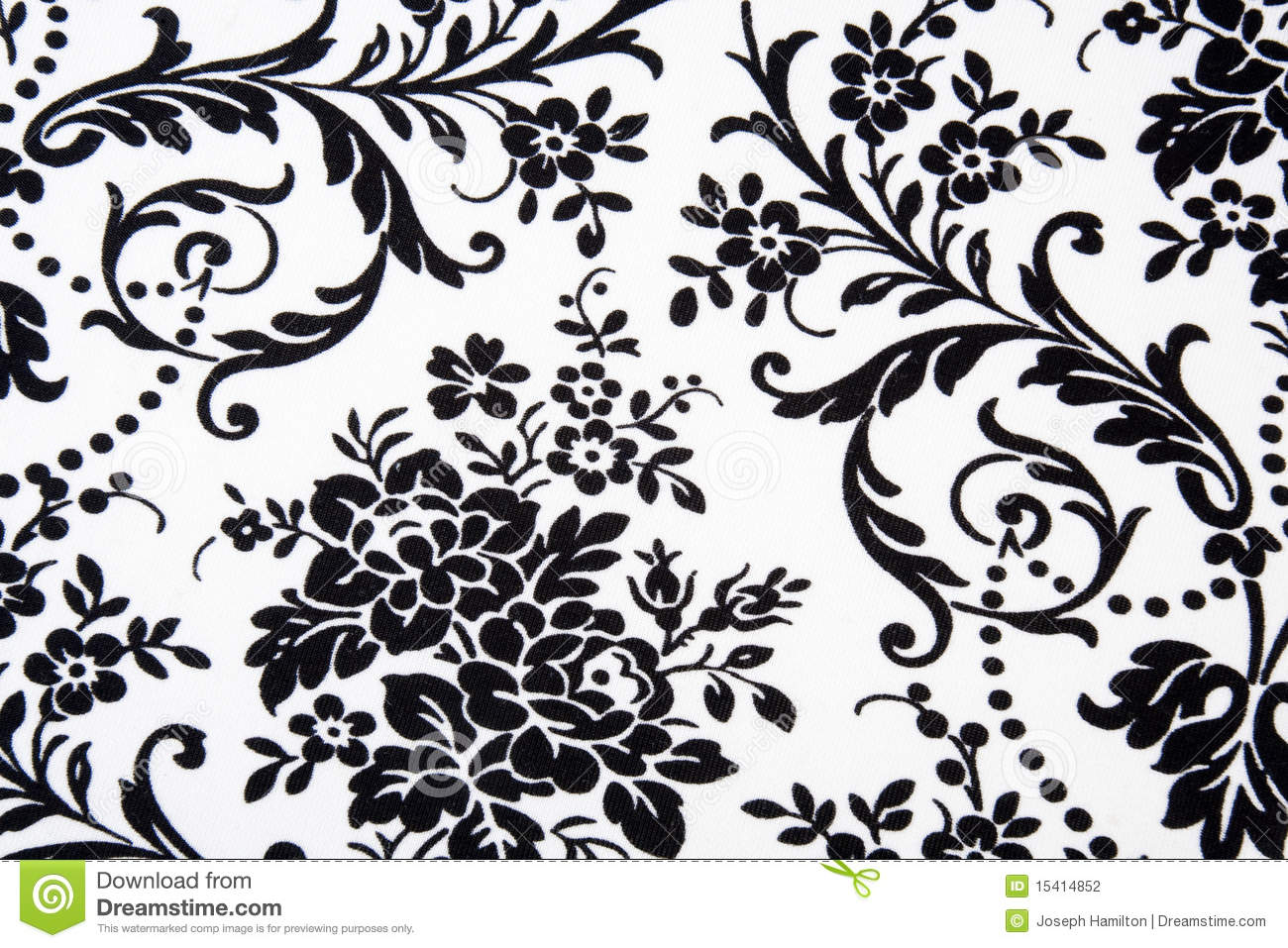 14 Black And White Floral Designs Images Black And White Flower