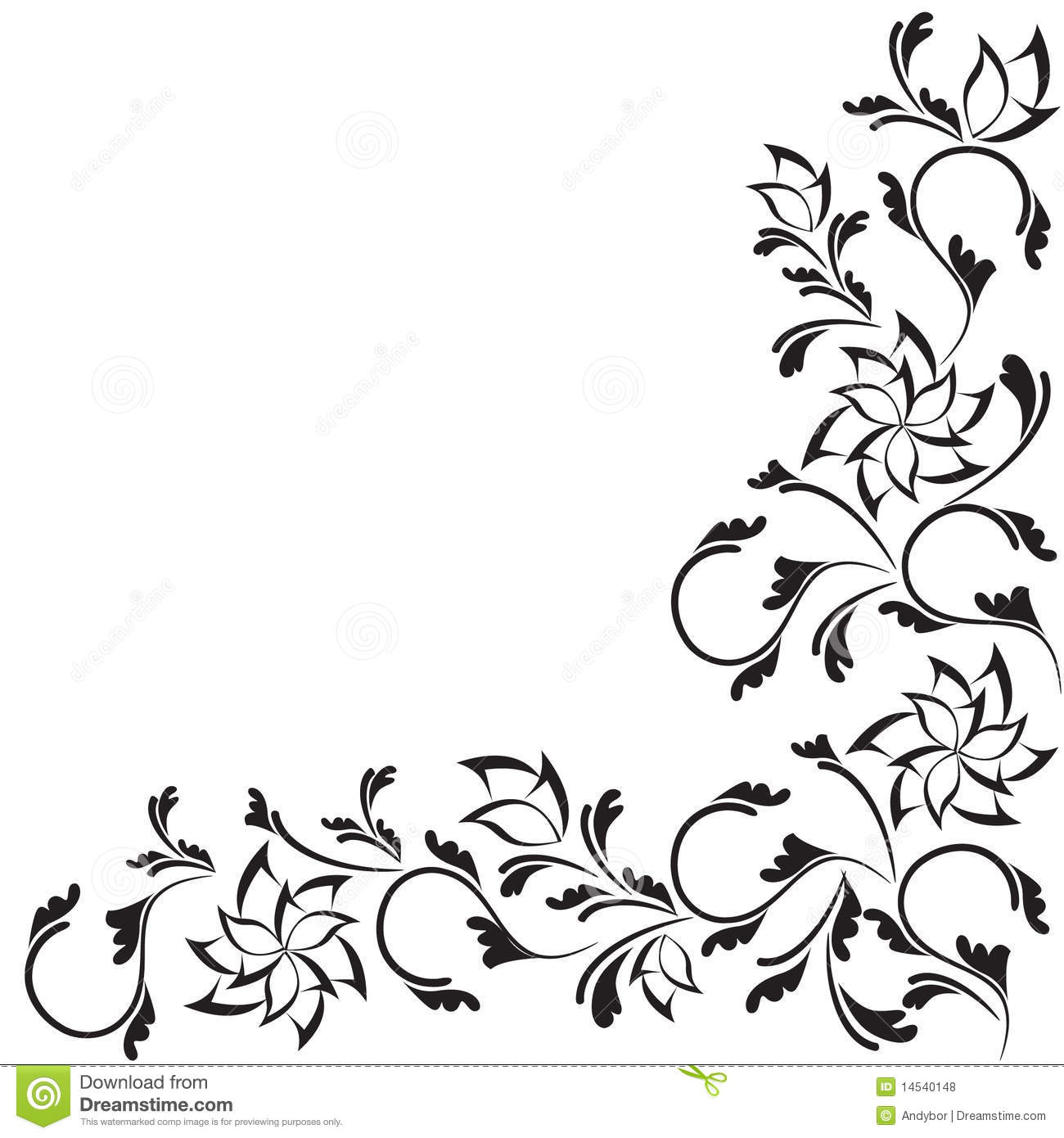 Black and White Floral Designs Patterns