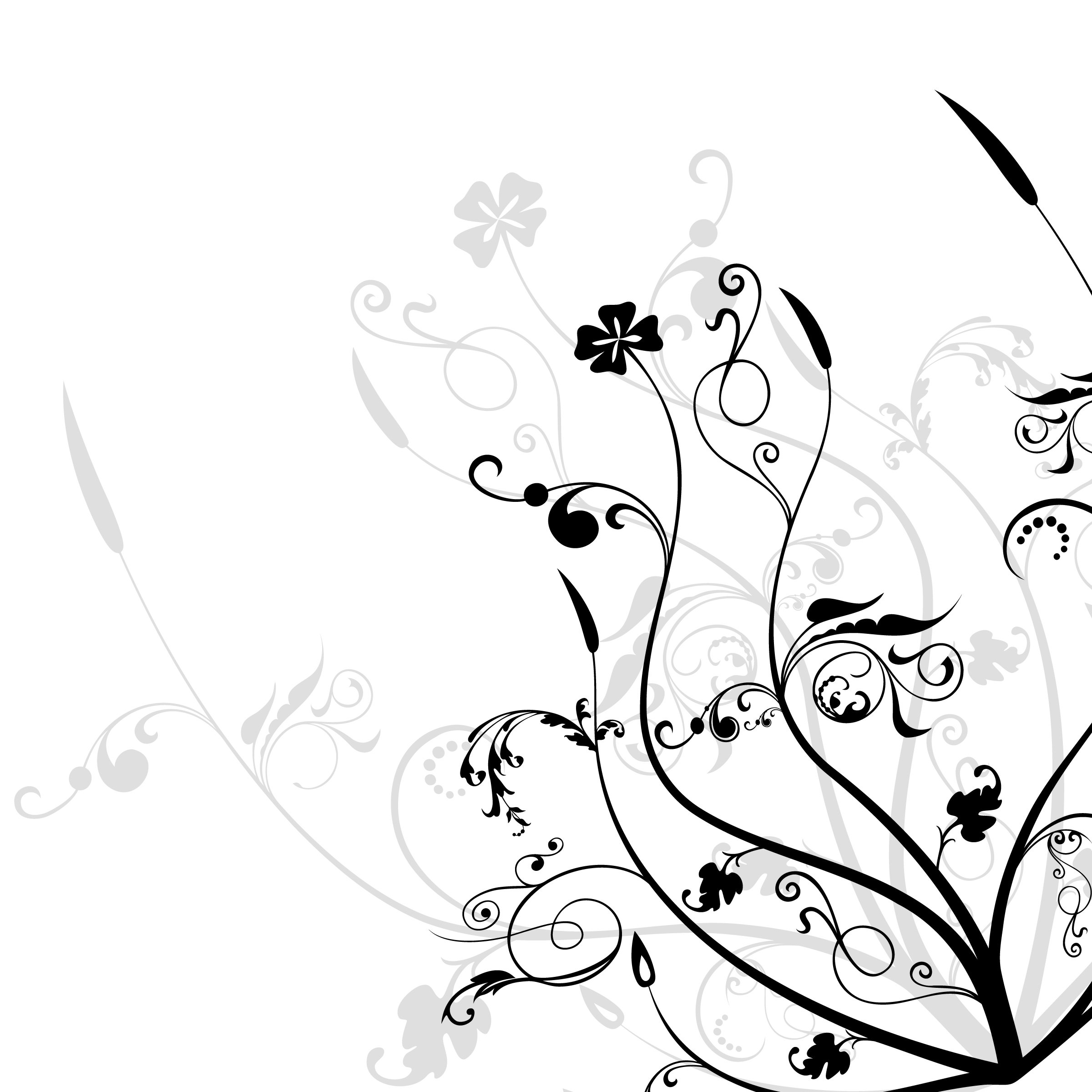 14 black and white floral designs images black and white flower design black and white flower - Any design using black and white ...