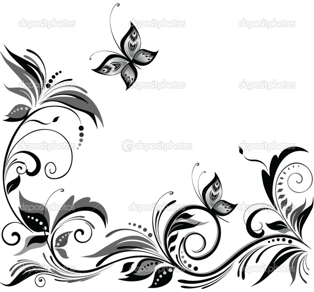 14 Black And White Floral Designs Images Black And White White And Black  Designs