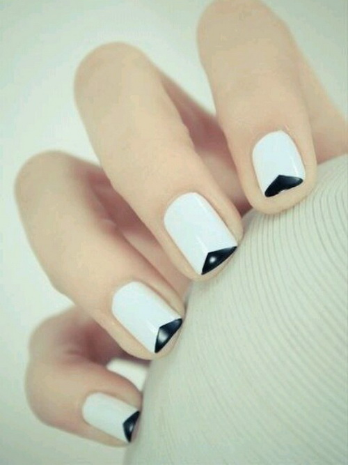 14 Simple White Nail Designs Images