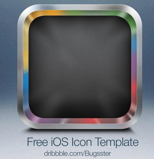 Blank App Icon Template