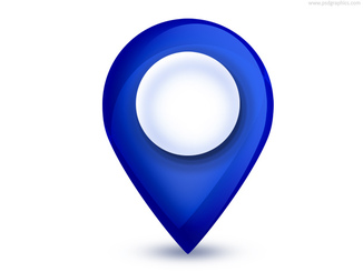 Blue Map Pointer Icon