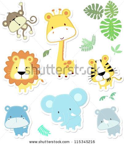 Cartoon Baby Jungle Animals