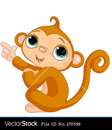 Cartoon Baby Monkey