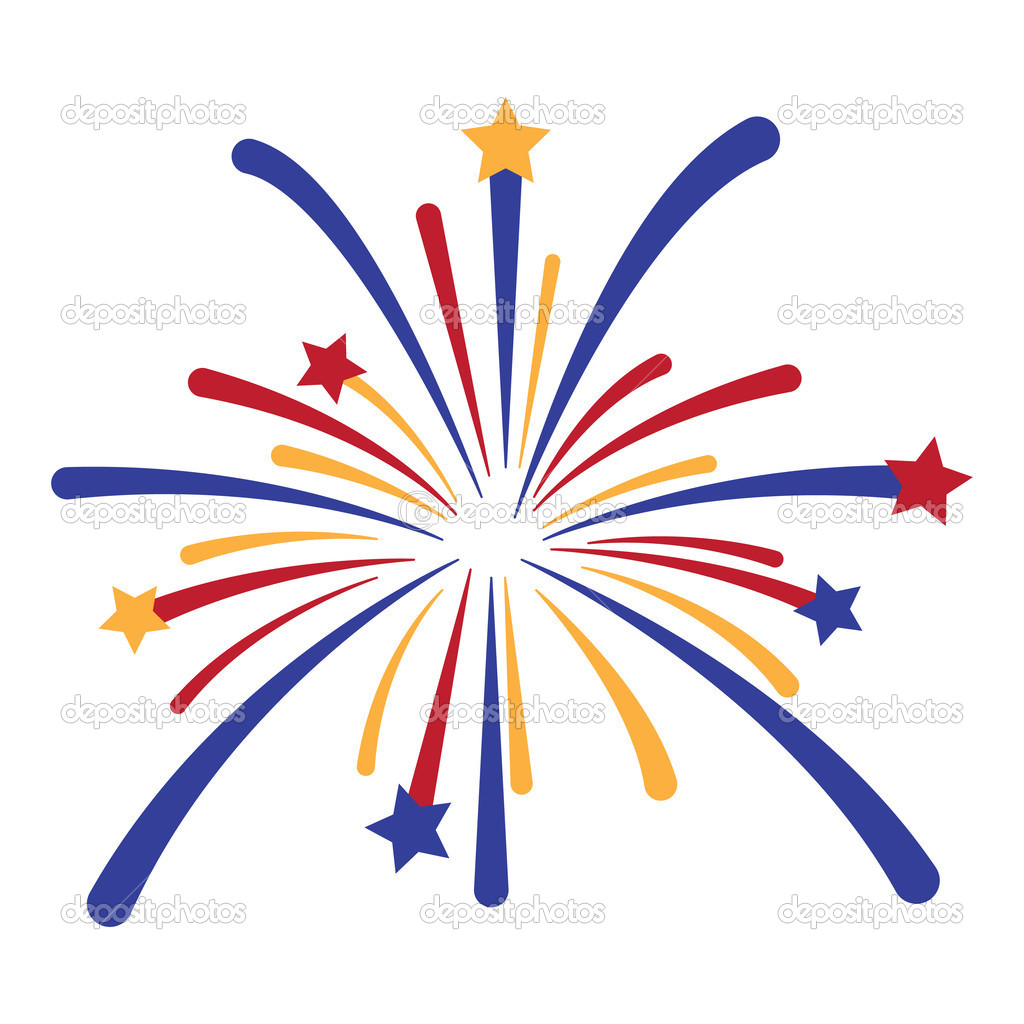 7 4th Of July Firework Vector Images