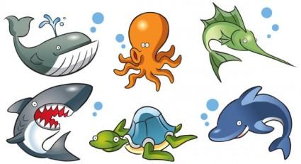 Cartoon Marine Animals