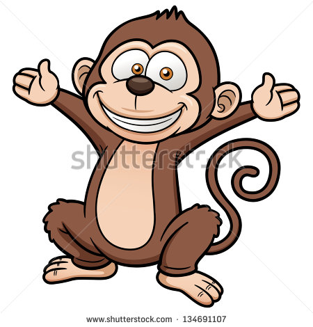 Cartoon Monkey Jumping