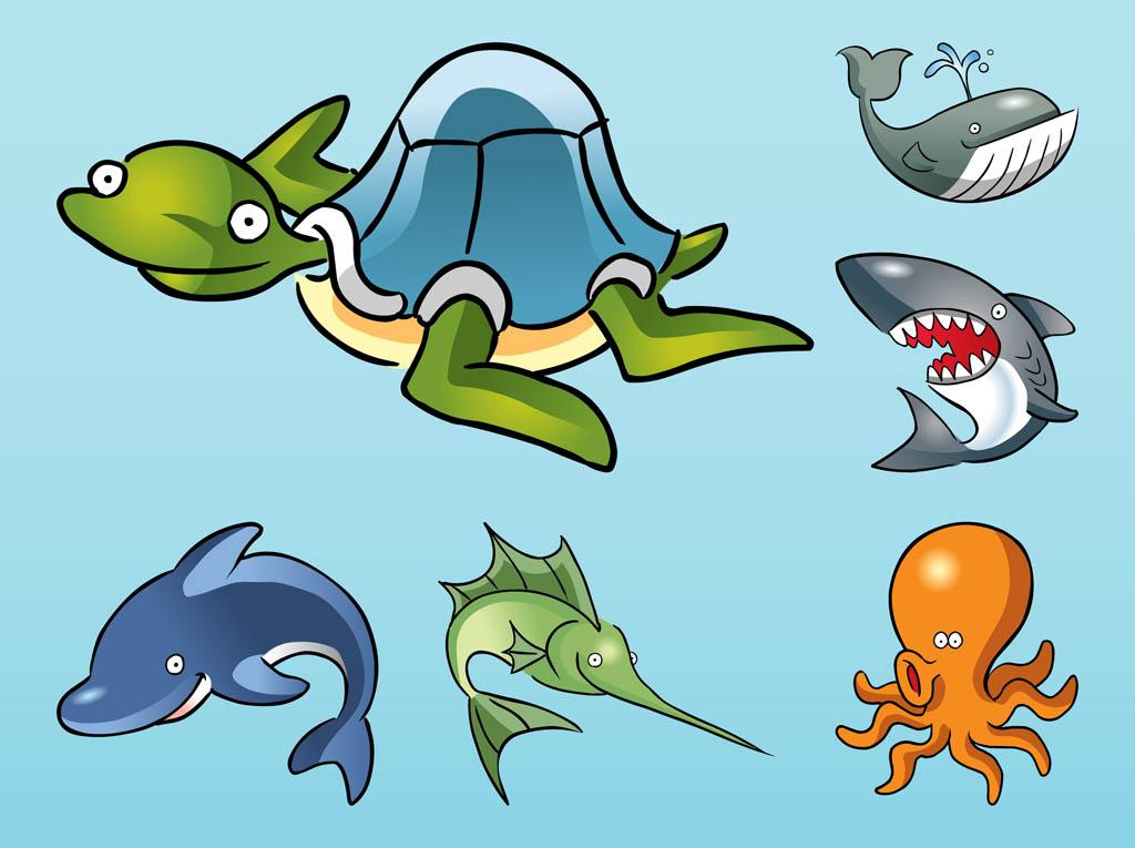 Cartoon Ocean Animals