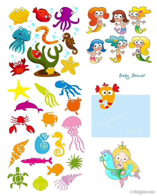 Cartoon Sea Life Clip Art Free