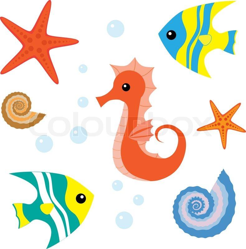 Cartoon Sea Life Clip Art