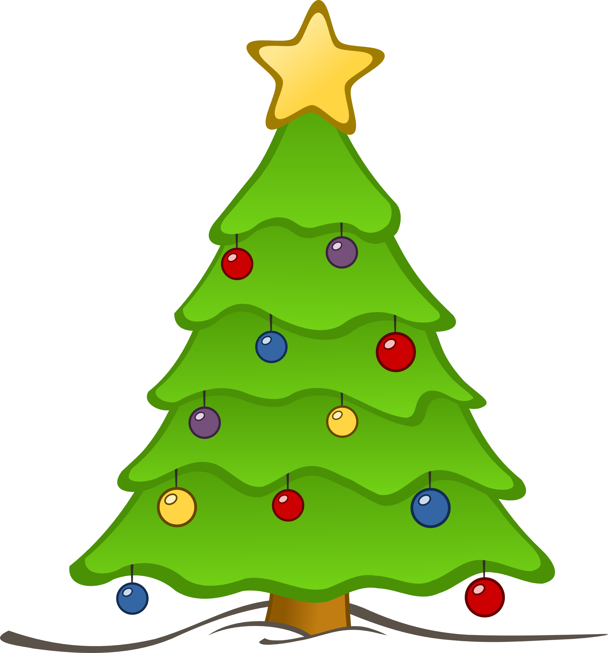 18 Christmas Tree Graphics Images