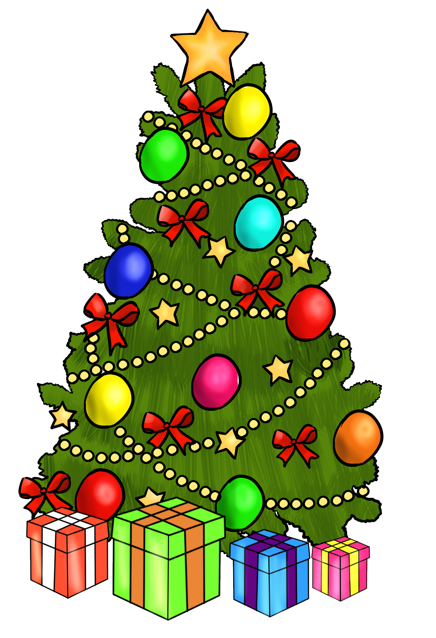 Christmas Tree Presents Clip Art