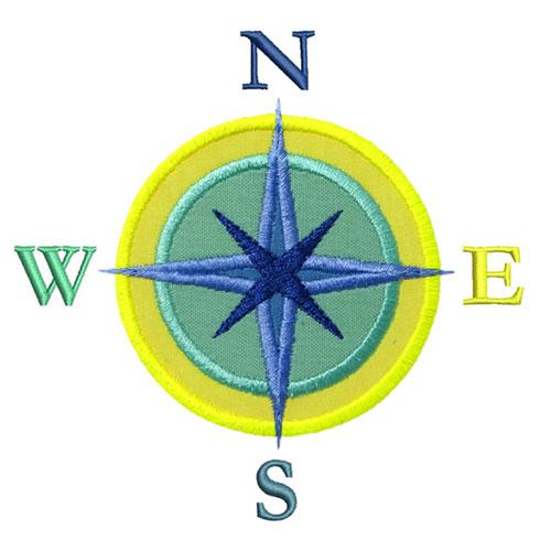 Compass Rose Applique