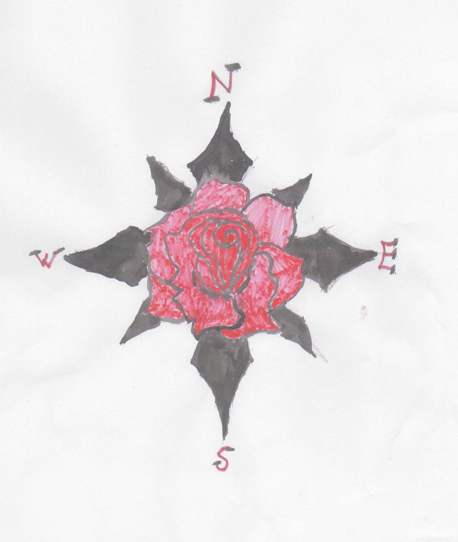 Compass Rose Tattoo Designs