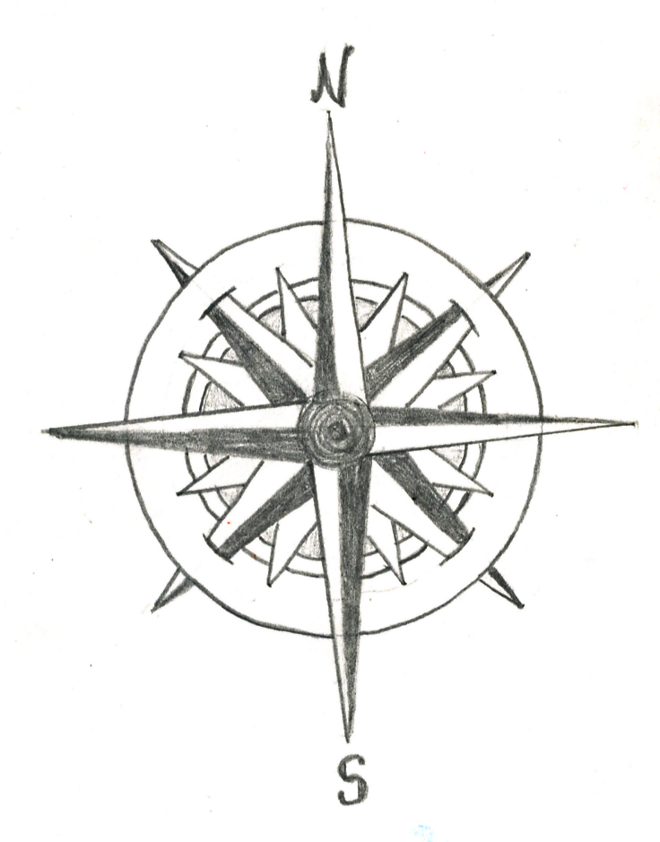 Compass Rose Tattoo Drawings
