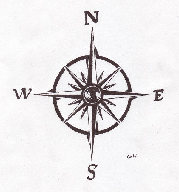 Compass Rose Tattoo Idea Design