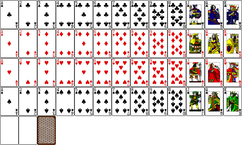 Complete Deck Playing Card Clip Art