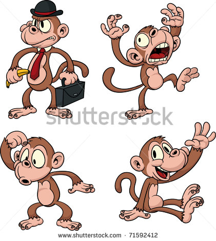 Crazy Cartoon Monkey