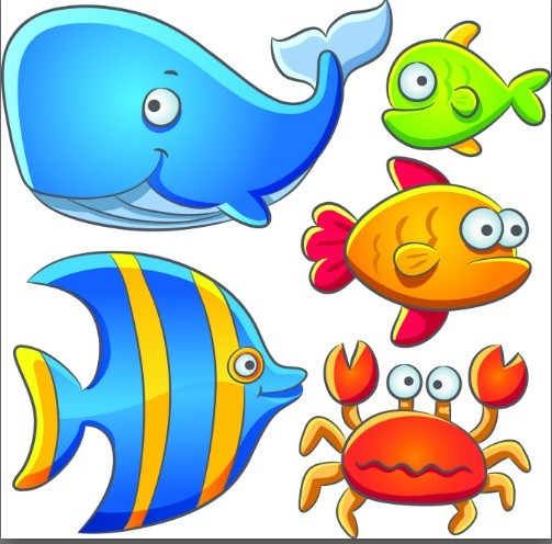 Cute Cartoon Ocean Animals