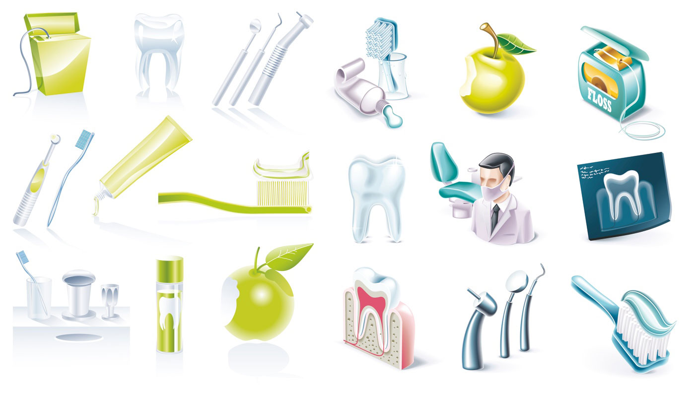 Dental Clip Art Illustrations
