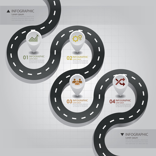 Design Infographic Templates Road