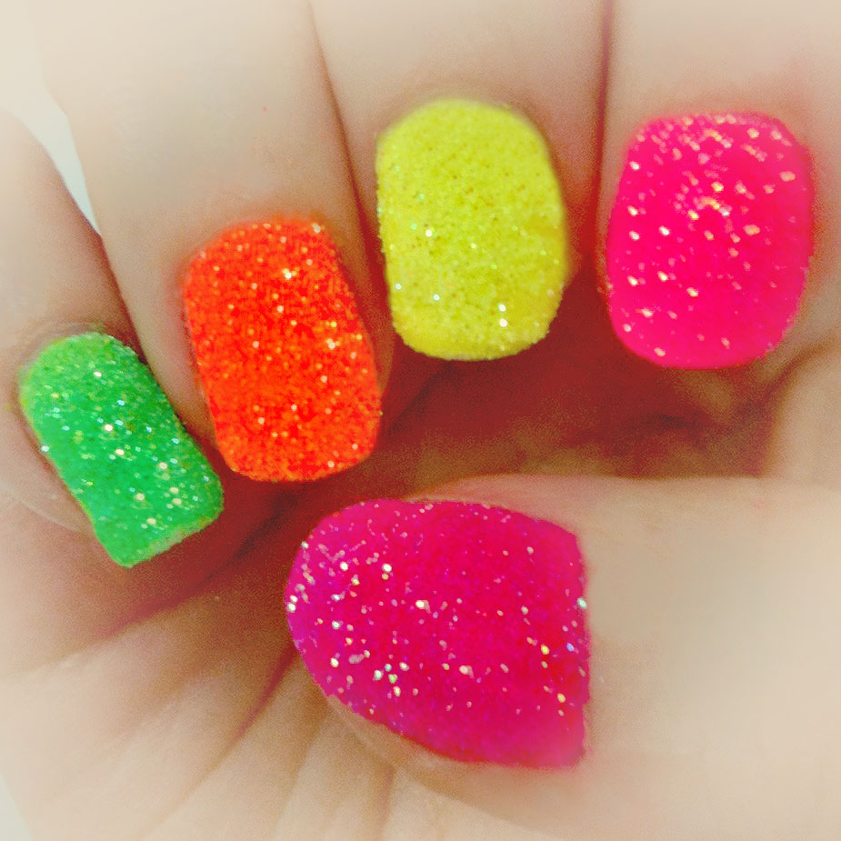 Easy Neon Nail Designs
