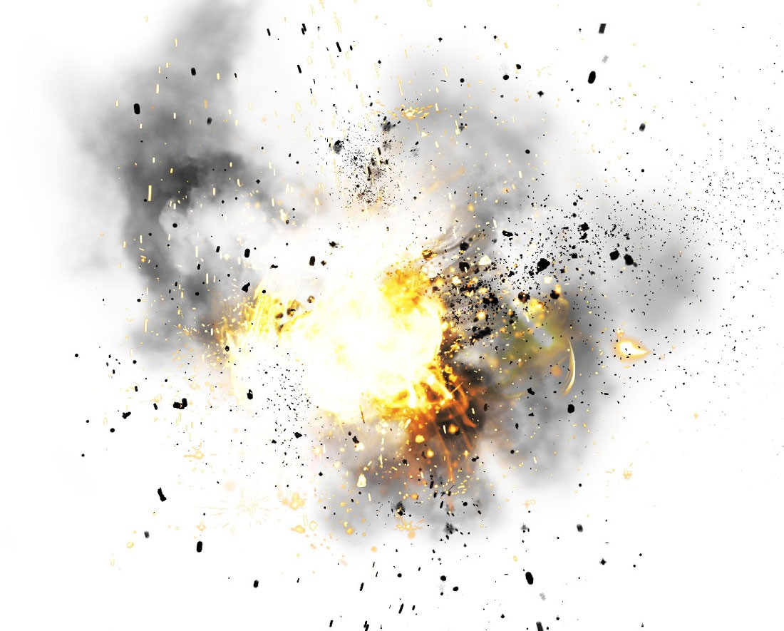 14 Impact Explosion PSD Images