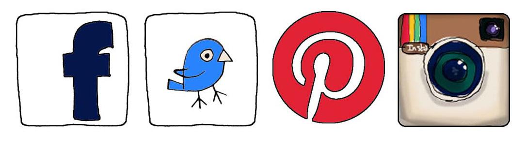 Facebook Twitter Pinterest Instagram Logo
