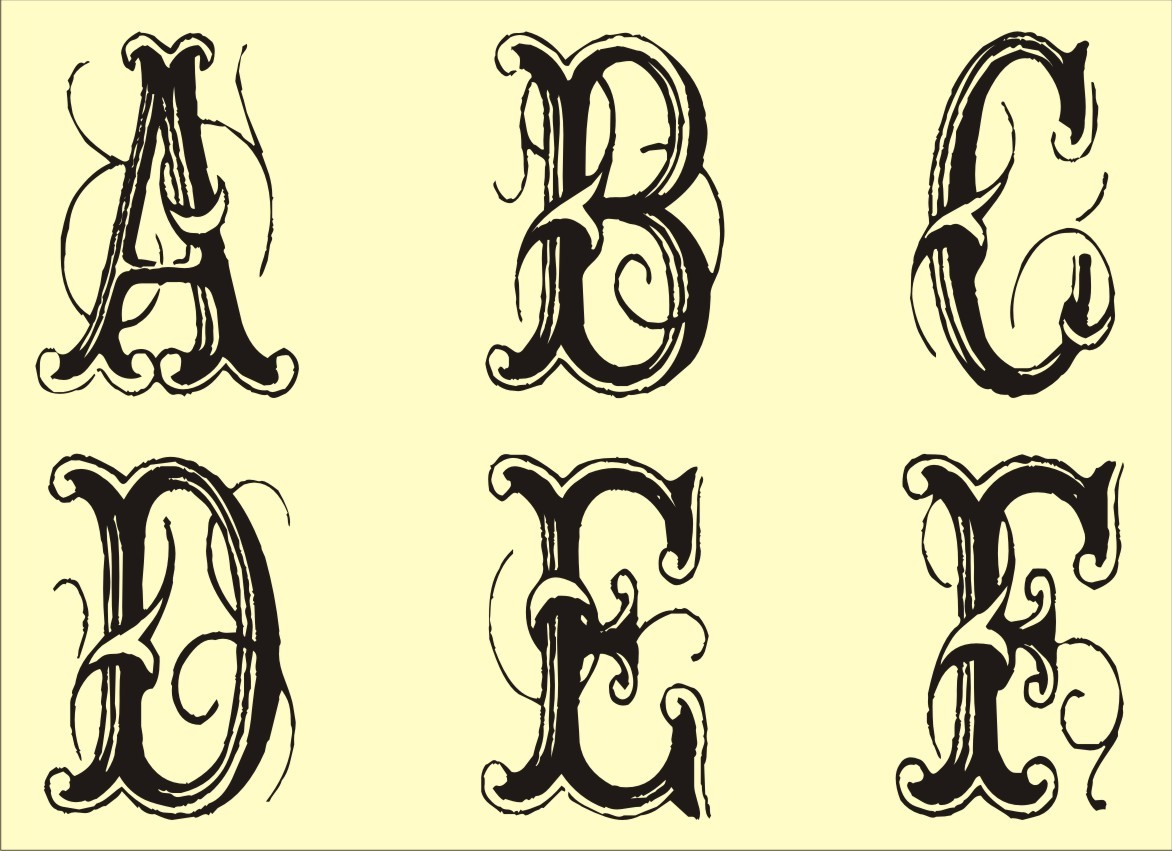 graphic relating to Printable Fancy Lettering referred to as 13 Printable Extravagant Letter Fonts Shots - Extravagant Alphabet
