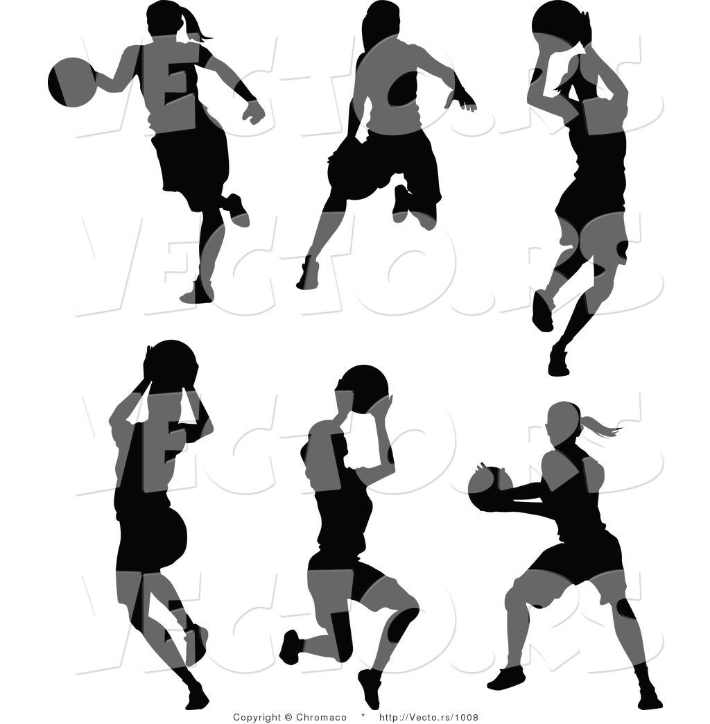18 Girl Basketball Player Vector Art Images