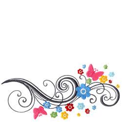 flowers and swirls designs - photo #6