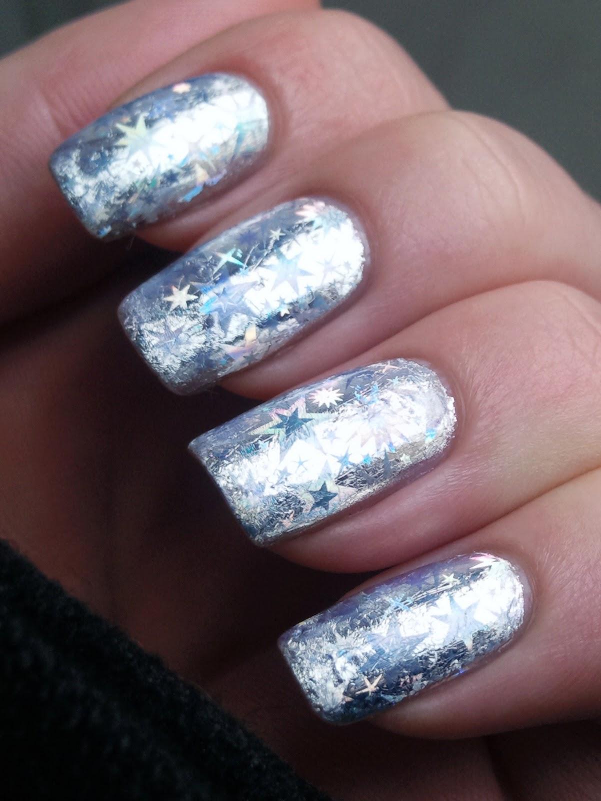 12 Silver Nail Designs Images Black And Silver Nail Design Silver