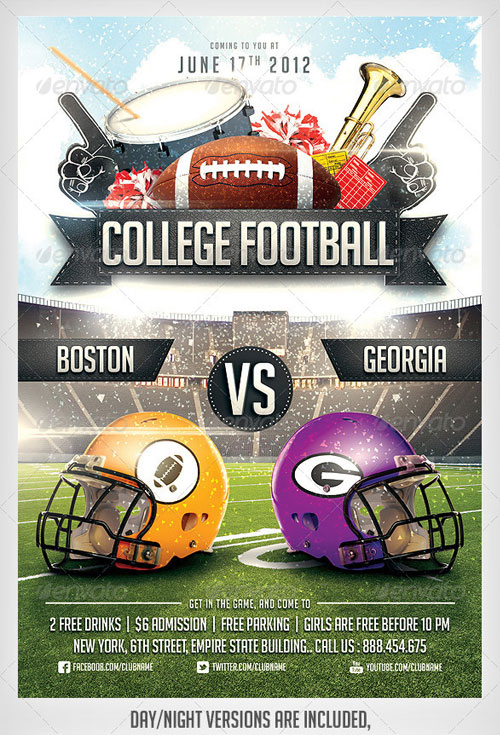 Football Flyers Templates Free