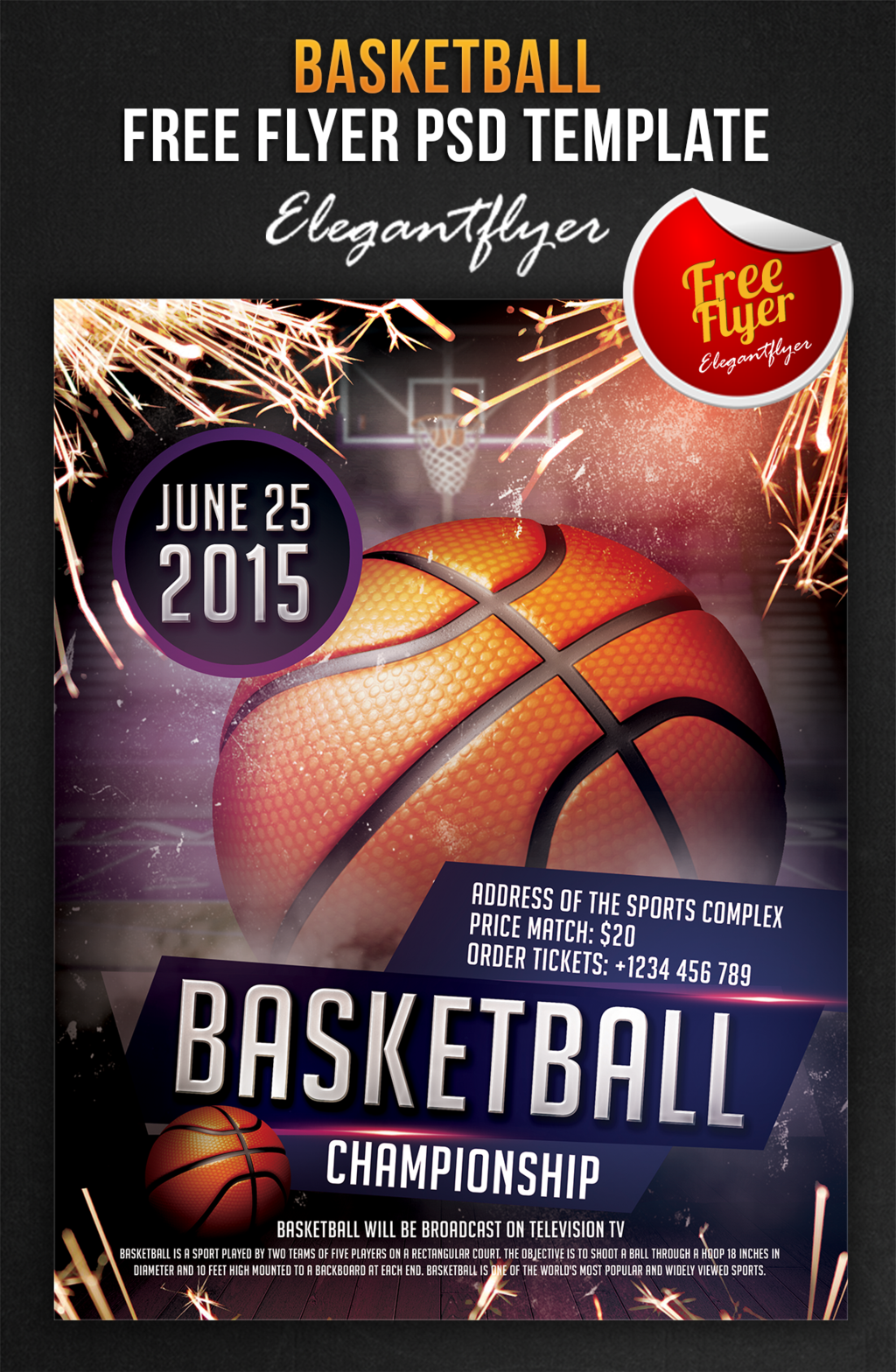 14 Free Psd Basketball Flyers Images Basketball Tournament Flyer