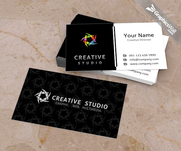 14 free business card design psd images free business card psd free business card psd template wajeb Choice Image