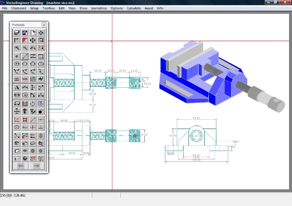 10 vector engineering cad images free cad drawing for Layout drawing software free