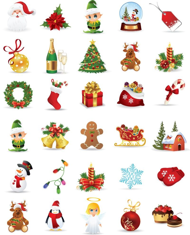16 Christmas Free Vector Download Images